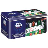 Pro Poker Texas Hold'em Set in Tin
